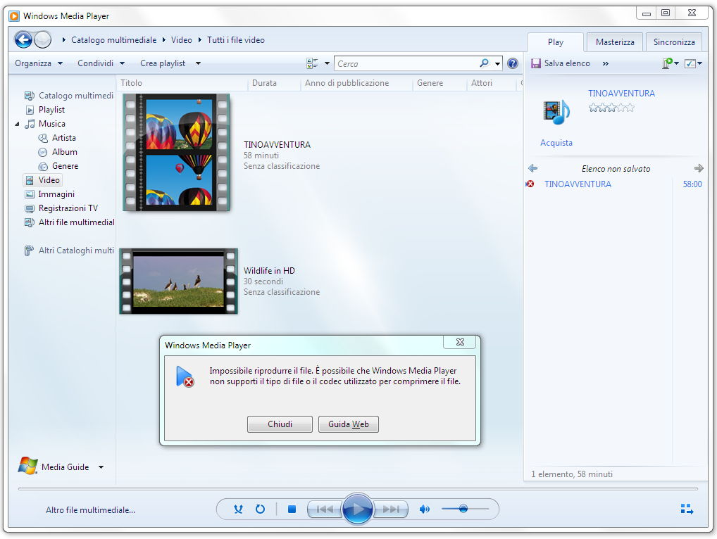 Codecs per Windows Media Player 9, 10, 11, 12, 13