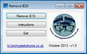Utility e guida per Rimuovere Internet Explorer 10